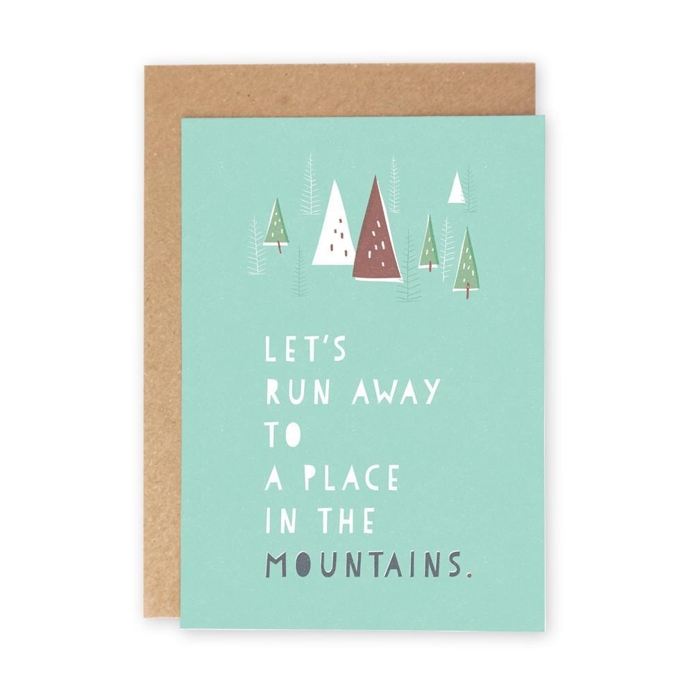 A Place In The Mountains Card