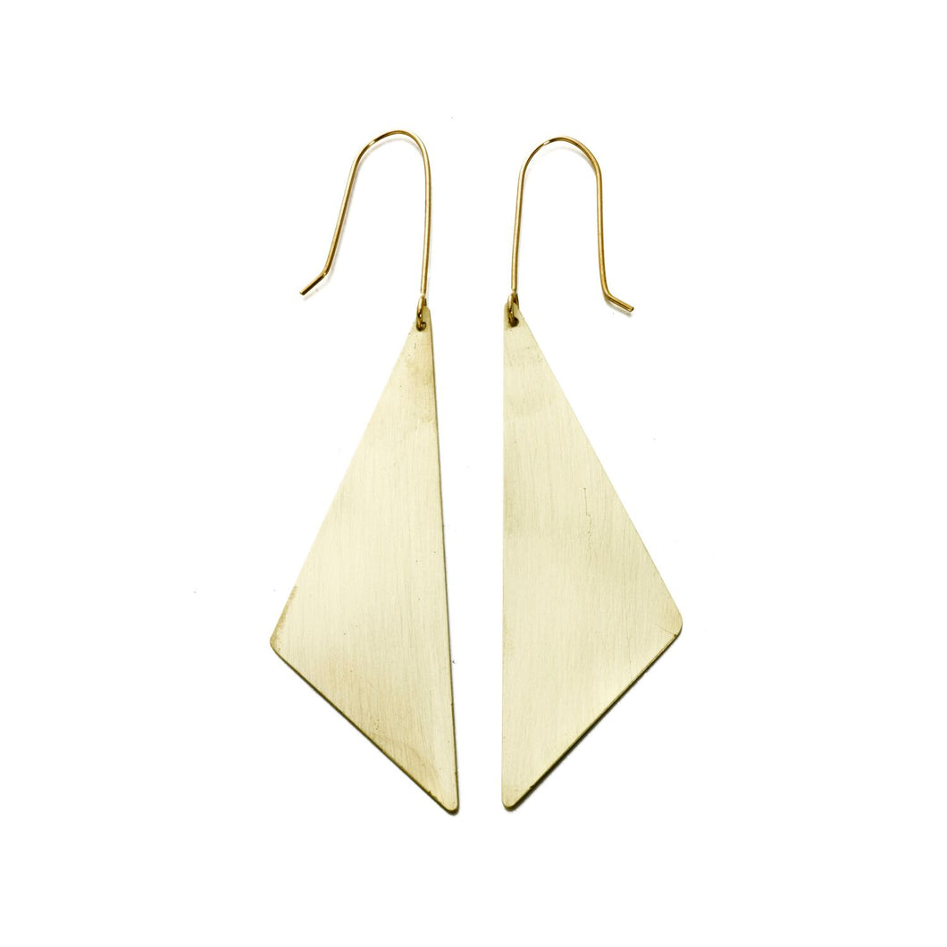 Offset Triangle Earrings