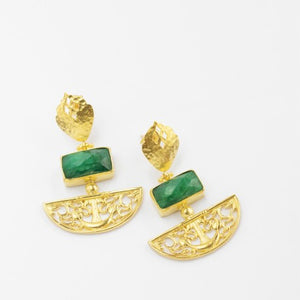 Emerald Artemis Earrings
