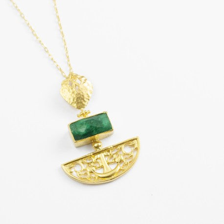 Emerald Artemis Necklace