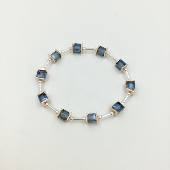 Blue Glass Bead Bracelet