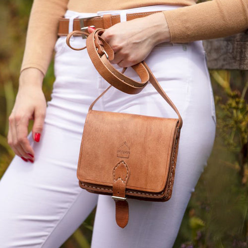 Tan Square Saddle Bag