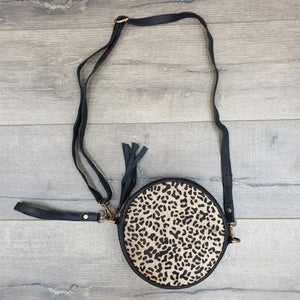 Round Fur Leather Bag