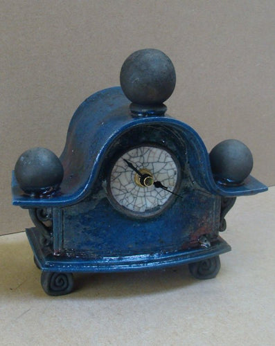 Large Blue Clock