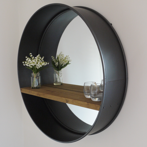 Retro Industrial Mirror