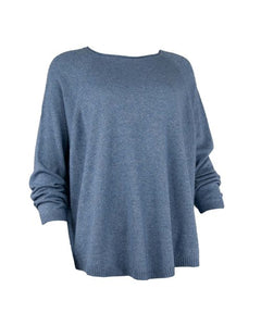 Denim Cashmere Blend Oversize Jumper