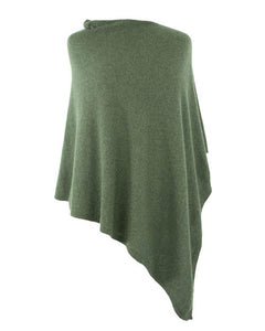 Forest Green Cashmere Blend Poncho