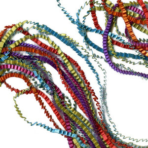 Multicolour Fabric Strand Necklace