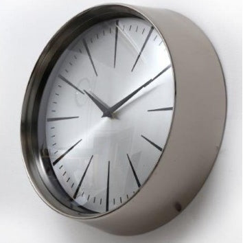 Small Silver Wall Clock