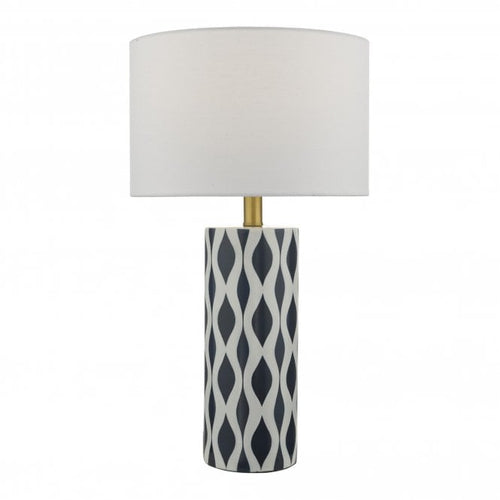 Blue & White Table Lamp