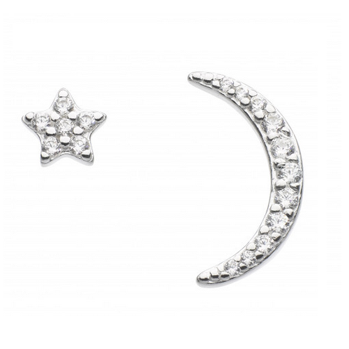 Star And Crescent Studs
