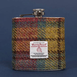Harris Tweed Hip Flask
