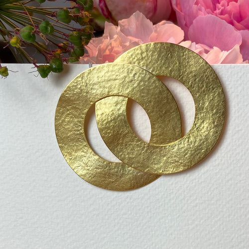 Gold Circles Brooch