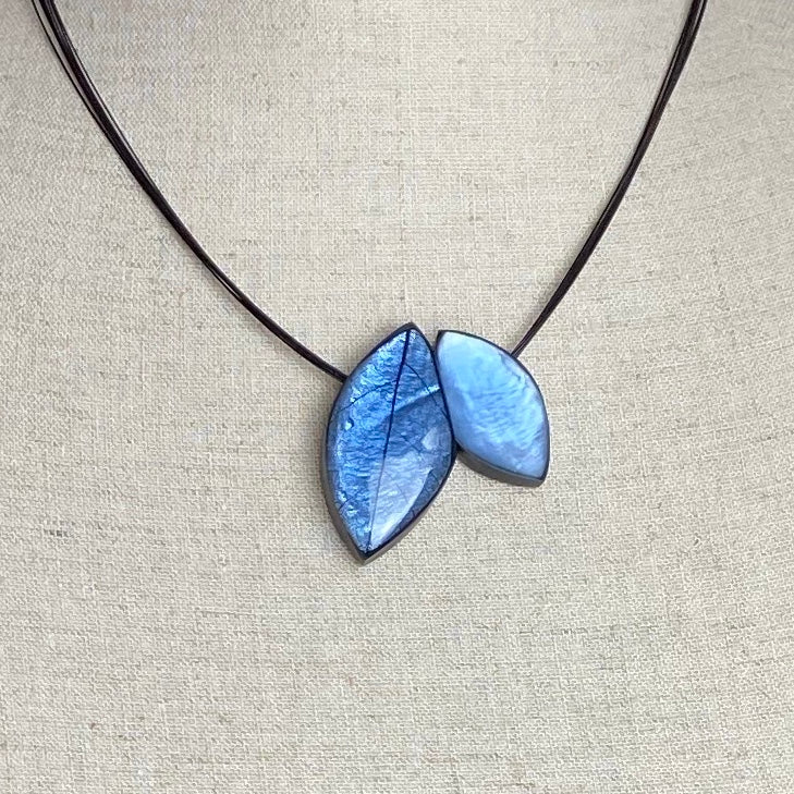 Blue Mango Leaf Necklace