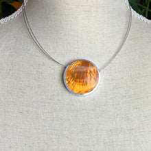 Load image into Gallery viewer, Red/ Orange Disc Reversible Necklace