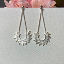 Load image into Gallery viewer, Silver Plated Sun Drop Earrings