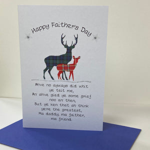 Stag Father's Day Card