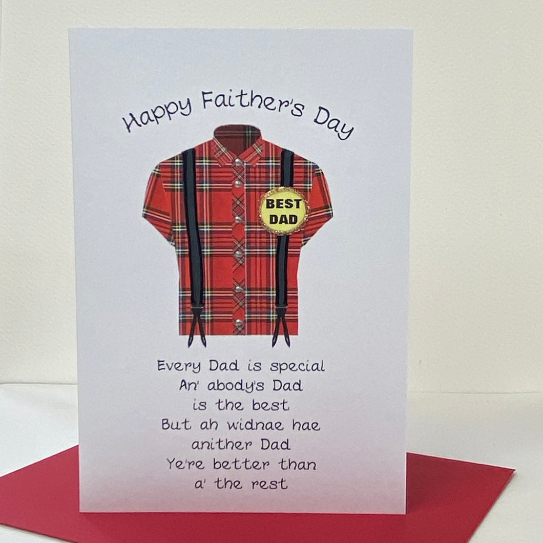 Braces Father's Day Card