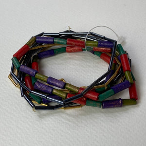 Orange And Green and brass Bracelet
