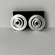 Load image into Gallery viewer, Satin Silver Clip Earrings