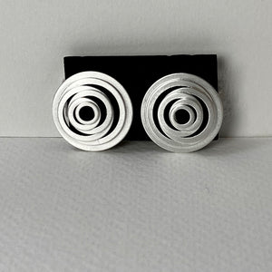 Satin Silver Clip Earrings