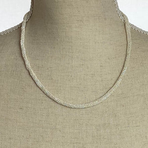 Woven Silver Necklace