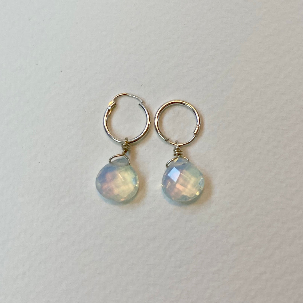 Opalite Silver Earrings