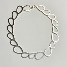 Load image into Gallery viewer, Beautiful Satin Silver Necklace