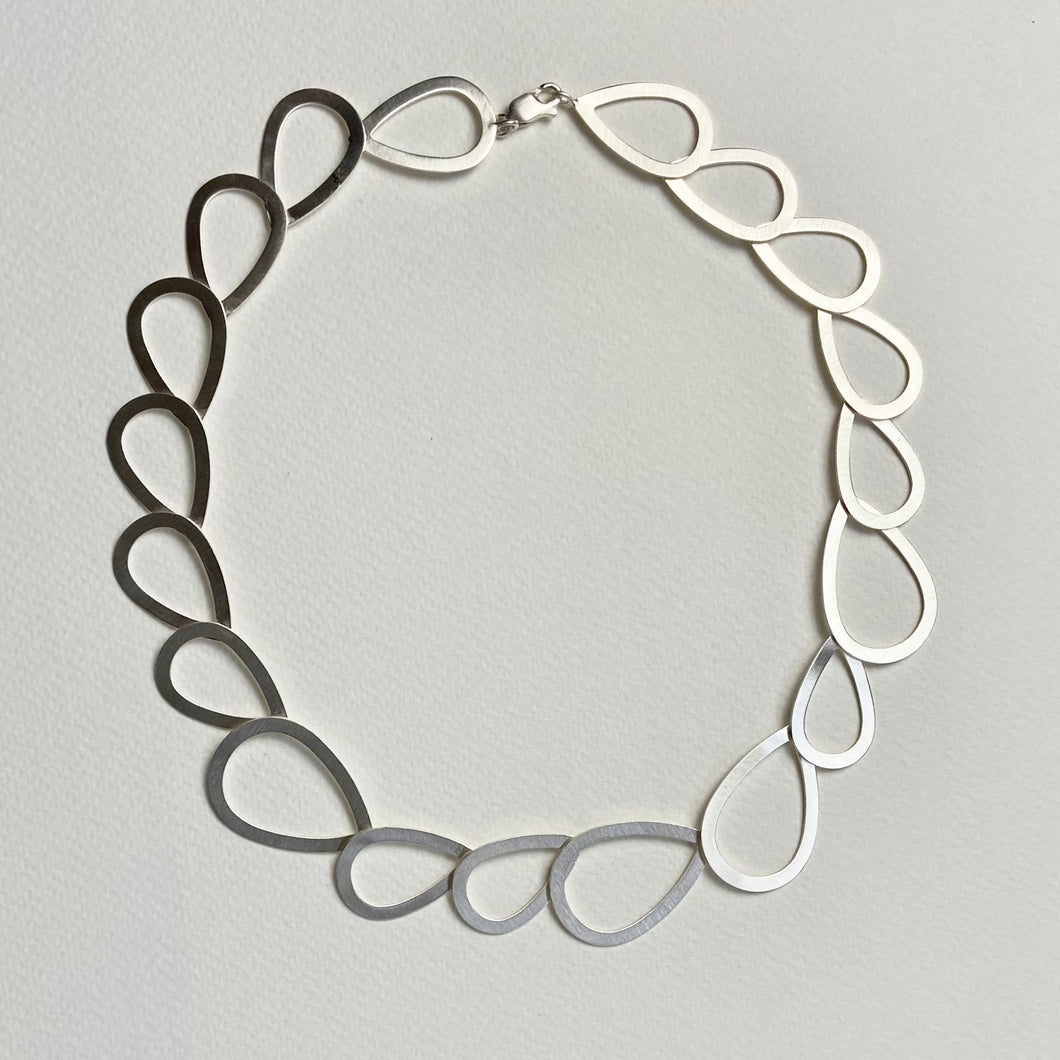 Beautiful Satin Silver Necklace