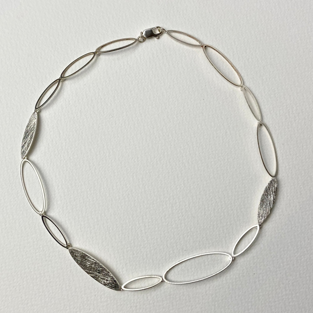 Oval Links Silver Necklace