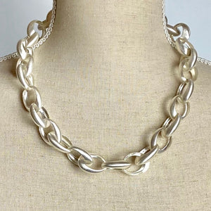 Chunky Silver Chain Necklace