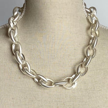 Load image into Gallery viewer, Chunky Silver Chain Necklace