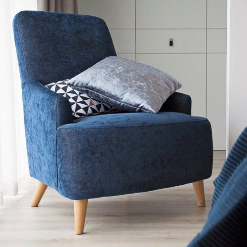 Chair in Petrol Blue Velvet