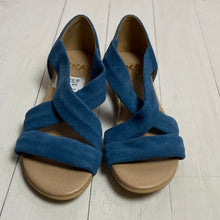 Load image into Gallery viewer, Suede Blue Isabella Sandals