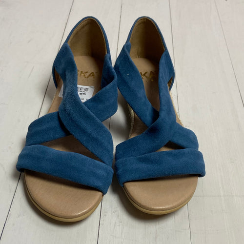 Suede Blue Isabella Sandals