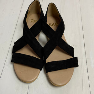 Suede Black Isabella Sandals