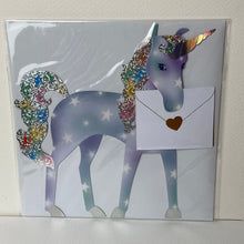 Load image into Gallery viewer, Unicorn Holographic Card