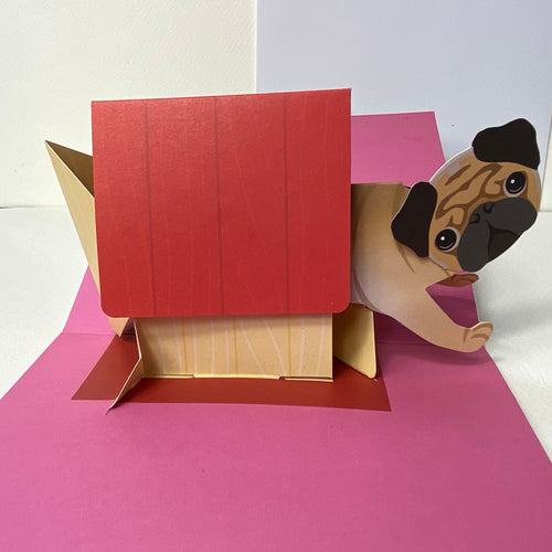 Pug Pop up Card