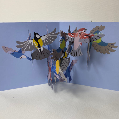 Small Birds -pop up card