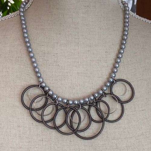 Esther Grey Pearl Necklace
