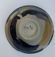 Load image into Gallery viewer, Hand thrown blue and gold bowl