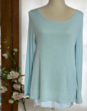 Load image into Gallery viewer, Pale Blue Coco Bow Back Top