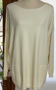 Cream Pearl Back Jumper