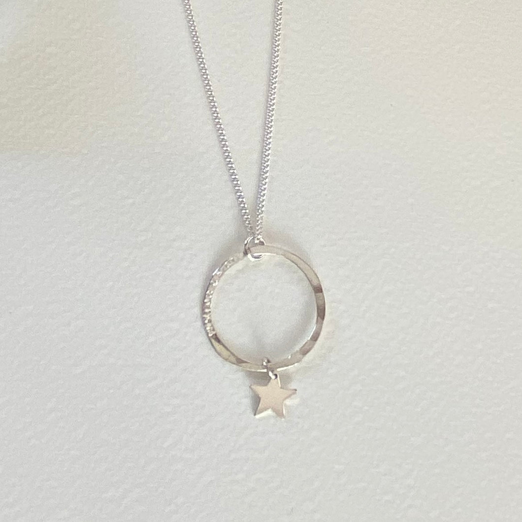 Wish On A Star Hoop Necklace
