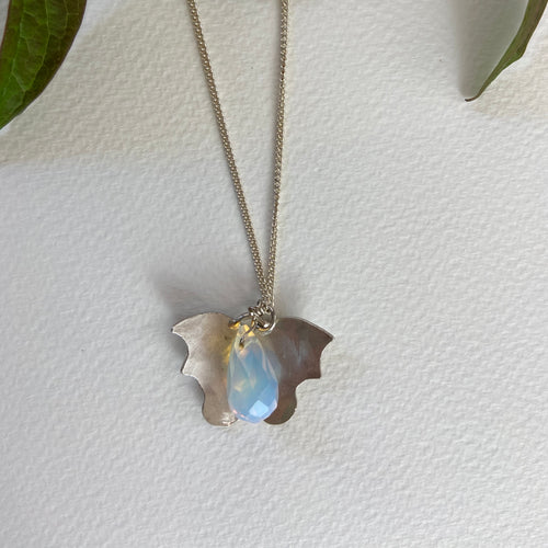 Blue stone Butterfly  Pendant
