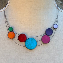 Load image into Gallery viewer, Multicoloured Disc Necklace
