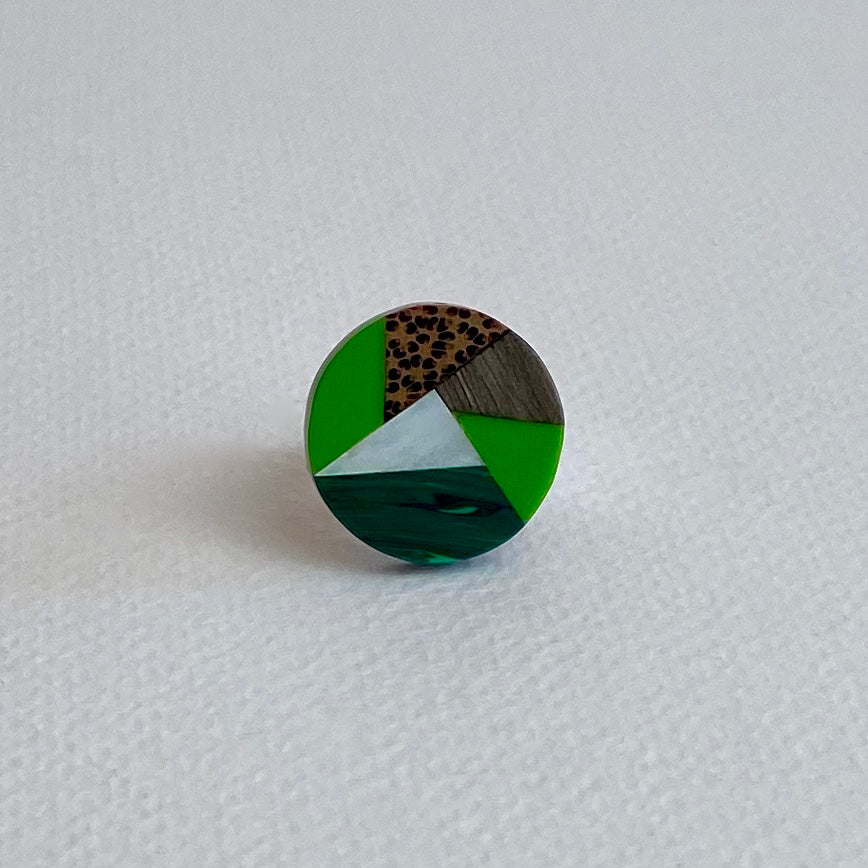Green Envelope Ring