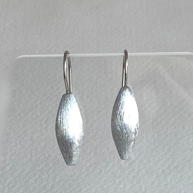 Mini Silver Teardrop Earrings