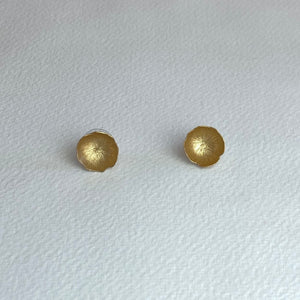Small Gold Flower Earrings