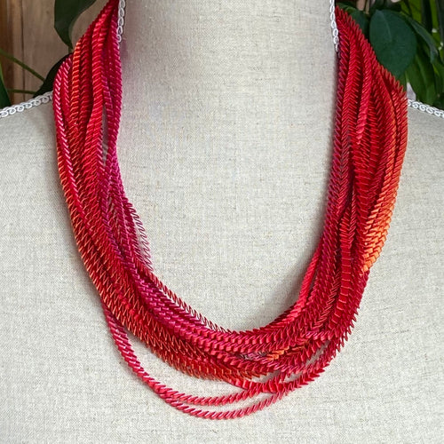 Fuchsia,Red,Orange,Pink Eos Necklace